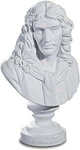 Buste de Molière de Jean Antoine Houdon - 12,5 cm