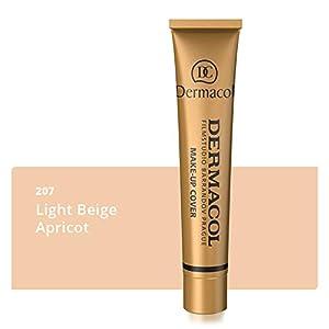 Dermacol DC Base Makeup Cover Total | Maquillaje Corrector Waterproof SPF 30 | Cubre Tatuajes, Cicatrices, Acné, Imperfecciones, Manchas en la Piel de la Cara y Cuerpo | Liquido – Mate Natural – 30g