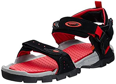 Sparx Men's Black and Red Athletic and Outdoor Sandals - 10 UK/India(44.67 EU)(SS0502G)