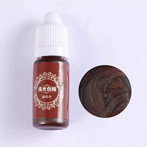 TuToy 10Ml Pearl Shiny Pigment 24 Farben Uv-Resin Epoxy Harz Glue Farb- - Der Kaffee