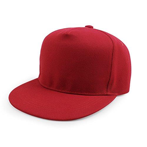 Ladys cappello a tesa piatta berretto da baseball a colori solidi hip-hop hip hop cappelli-U regolabile