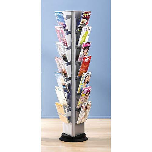 Prospektständer aus Kunststoff für DIN A4 - Prospekthalter 3-seitig einhängbar, drehbar - 21...