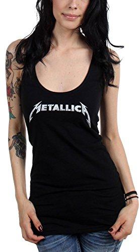 Metallica-Juniors Logo Canottiera da donna Black Small
