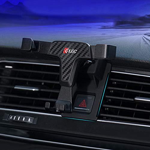HIGH FLYING für Golf VII 7 Fünftürer/Variant/GTI 2013-2019 Handyhalterung Auto Lüftung KFZ Halterung 360 Grad Drehung (Kohlefaserfarbe)
