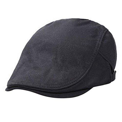 Hee Grand Homme Chapeau Coton Berets Casual Noir