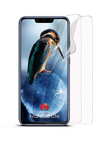 moex 2X Huawei Mate 20 Lite | Schutzfolie Klar Bildschirm Schutz [Crystal-Clear] Screen Protector Display Handy-Folie Dünn Bildschirmschutz-Folie für Huawei Mate 20 Lite Bildschirmfolie