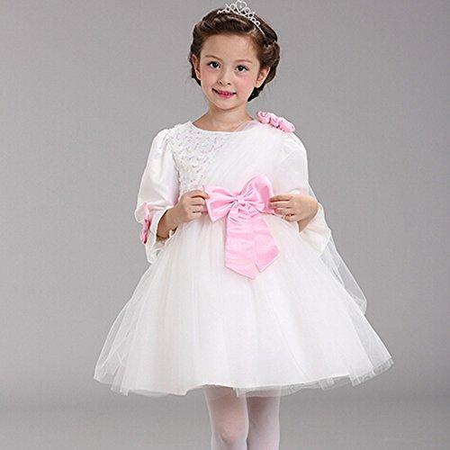 'Spritech (TM) Bambina Autunno Pizzo Grande Bowknot Damigella D' onore Ballo Partito Tutu Dress