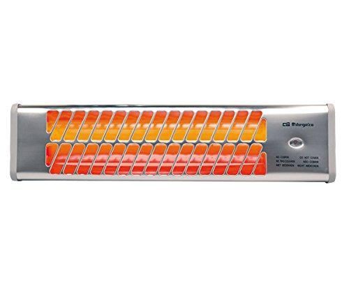 Orbegozo BB 5001 R - Estufa para baño, 3 niveles de potencia, 3 barras de cuarzo, 1500 W