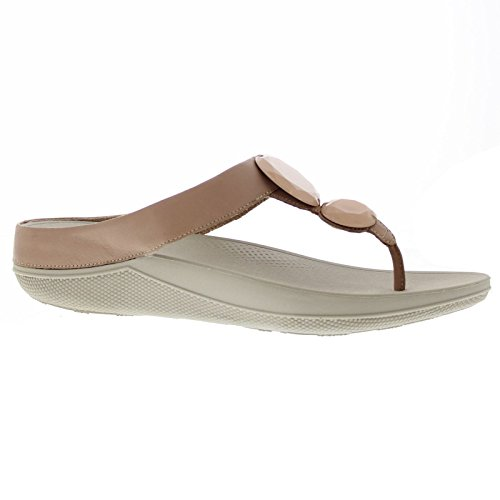 FitFlop Womens Luna Pop Leather Sandals Nude