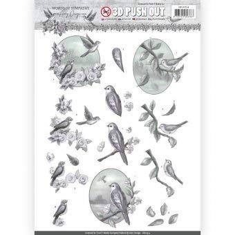 Find It 3D-Stanzbogen - Amy Design - Words of Sympathy - Sympathie Vogel