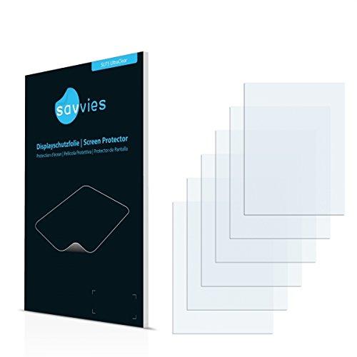 6x Savvies SU75 UltraClear Displayschutz Schutzfolie VDO Dayton PN 2050 (Kristallklar, Blasenfreie Montage, Passgenauer Zuschnitt) -