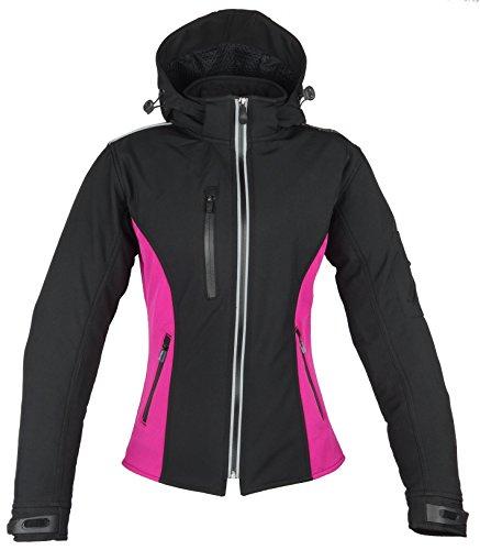 K2K Motorradjacke Softshell Jacke Venezia Damen schwarz-pink (M)