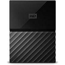 WD My Passport 3TB - Disco duro portátil y software de copia de seguridad automática para PC, Xbox One y PlayStation 4 - negro