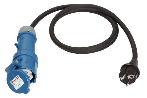 as - Schwabe 60486 Adapterleitung 230V / 16A / 3polig, 1,5m H07RN-F 3G2,5, IP44 Aussenbereich (Boot-kabel)