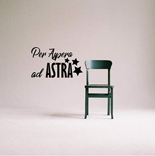 Pegatina De Pared Para Aspera Ad Astra Vinyl Decal Sticker Decoración De La Pared Escrito En Latín Cita Nordic Home Decoration Wallpaper Para Pared