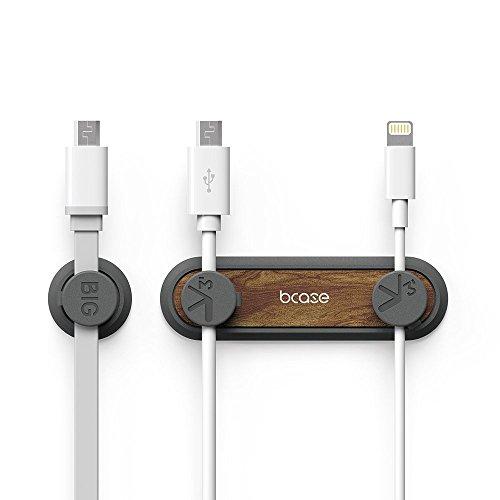 BCASE Kabelhalter Magnetisch Kabelclips Büro-Desktop Kabel Organizer mit 3er-Pack Kabel Schnallen für USB Kabel (Braun)