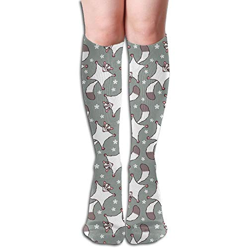 Xdevrbk Sweet Sugar Glider Flowers Pattern Comfortable Elastic Knee High Socks - Fuß-glider