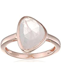 Elements Silver Women Triangle Quartz Ring - Size N R3506P 54