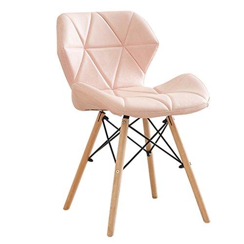Esszimmerstühle Schlafzimmer Stühle Weich Gepolsterte Holzbeine Für Esszimmer Küche Modern Gepolstert Leder Stuhl Sitzhocker (Farbe :...