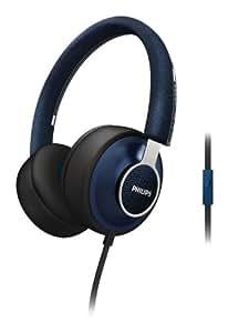 Philips Citiscape Downtown SHL5605BL/10 Casque Audio avec Coussinets isolants du bruit/Fonction prise d'appel pour Téléphone portable Bleu Denim