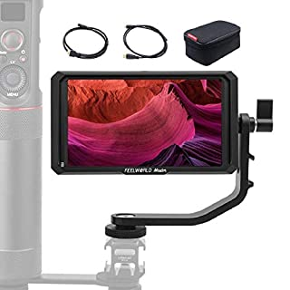 Feelworld Master MA5, 5 inch Camera Field Monitor 1920x1080 IPS Full HD 4K HDMI Video Assist for Camcorder DSLR Gimbal Stabilizer, Real-Time Camera Charge