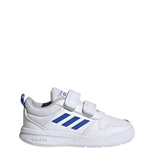 Adidas Tensaur I, Zapatillas de Estar por casa Bebé Unisex, Blanco Ftwbla/Azul/Ftwbla 000, 27 EU