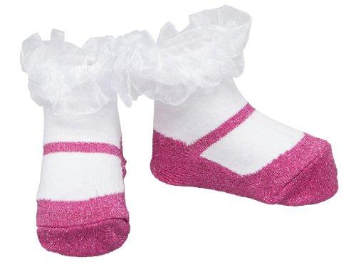 Baby Emporio-1 paio calzini del bambina ragazza - sacchetto regalo- -0-9 mesi (Sparkle Fucsia)