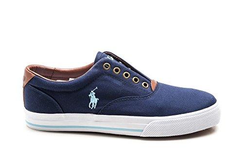 POLO RALPH LAUREN VITO navy scarpe uomo sneakers slip-on tessuto 45