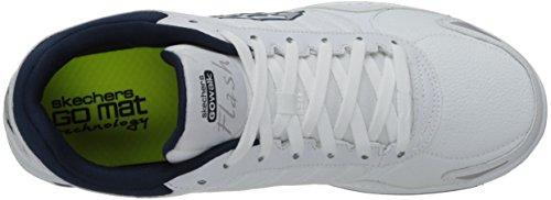 Skechers Go Walk 2 Flash, Chaussures de ville homme Blanc/bleu