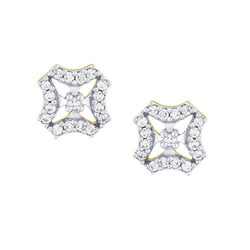 Giantti 14carats Diamant pour femme Boucles d'oreille à tige (0.4724CT, VS/Si-clarity, Gh-colour)