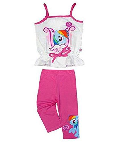 My little Pony Mädchen Top und Leggings Outfit Set Gr. 4 Jahre, weiß