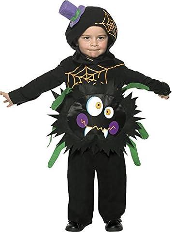 Smiffys, Kinder Jungen Verrückte Spinne Kostüm, Überwurf mit Kapuze, Größe: T2 (Kleinkind Medium), (Halloween-kostüme Für Zwei Kinder)