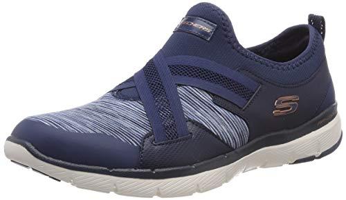 Skechers Damen Flex Appeal 3.0 Slip On Sneaker, Blau (Navy NVY), 41 EU (Schuh Damen Slip-on Leder)