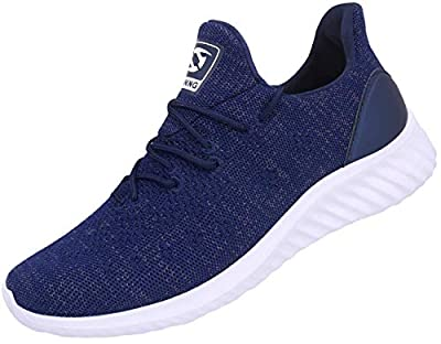 JIASUQI Mens Casual Sneakers Trainers Road Running Shoes Breathable Athletic Sports Shoes