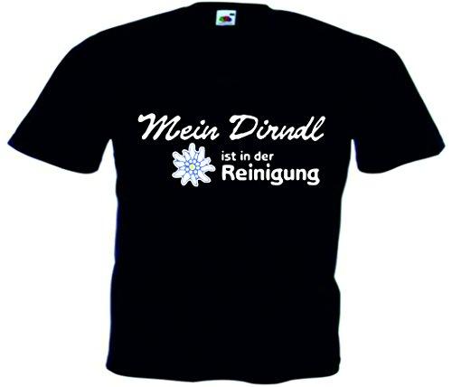 T-Shirt Oktoberfest Wiesn München Junggesellenabschied für Frauen Männer und Kinder in allen Größen XS bis 4XL oder Kinder 104 bis 164 Motiv Nr.23 Herren-Schwarz