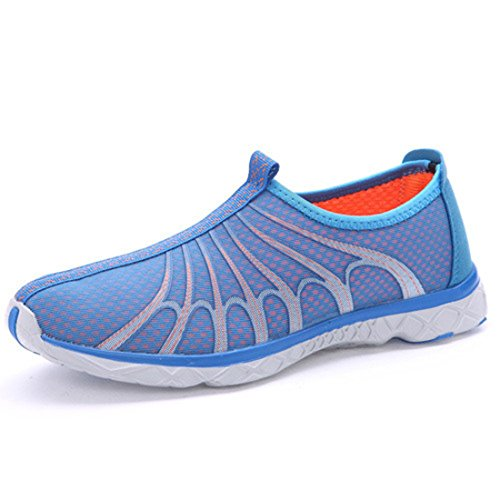 Men's Mesh Butterfly Slop On Super Light Athletic Running Shoes BL Orange