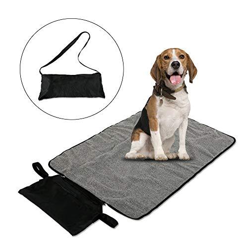 ASOCEA Manta Impermeable para Mascotas, Perros, Gatos, para Interior y Exterior, con Bolsa de Almacenamiento para Salida, Coche, Camping