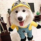 FidgetGear Disfraz de Perro Divertido Minion Ropa Amarillo Halloween GRU