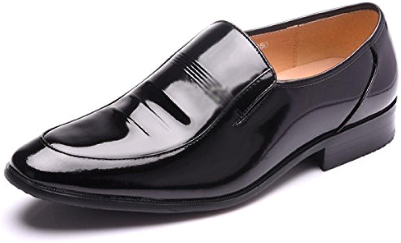 LYZGF Hombres Caballero Negocios Casual Moda Matrimonio Zapatos De Cuero -