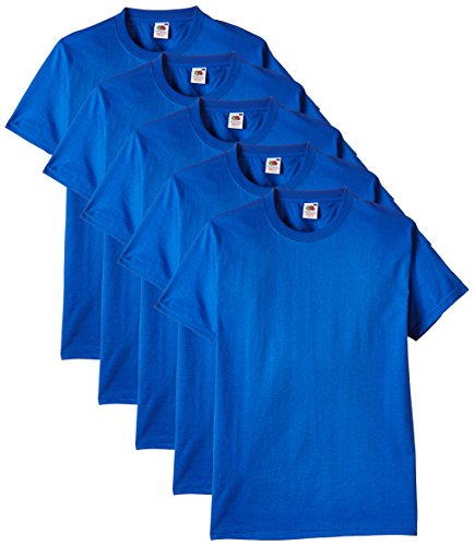 Fruit of the Loom Herren T-Shirt 5er-Pack Gr. X-Large, Blau - Königsblau - Blau Loom