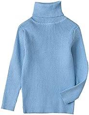 Conjuntos y Conjuntos para niñas, suéter de Cuello Alto de Punto para bebés y niños pequeños, suéter cálido y