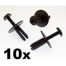 10x Remaches Plásticos - Tornillo Para Plástico Remache Agarre Lateral Faldón &