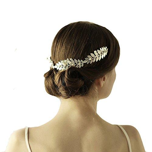 Griechisch Silber Blatt Stirnband Tiara oumoutm römischen Brautschmuck Krone Haar (Römische Kaiser Krone)