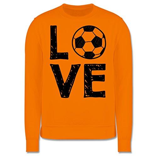 Fußball - Love Fußball - Herren Premium Pullover Orange