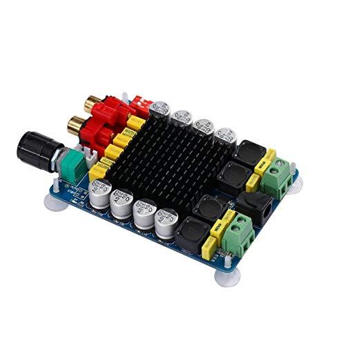 Elviray TDA7498 Leistungsverstärkerplatine 2 * 100W Zweikanal-Hochleistungs-Audio-Digitalverstärkerplatinenmodul der Klasse D DC15-34V (15 4-ohm-lautsprecher)