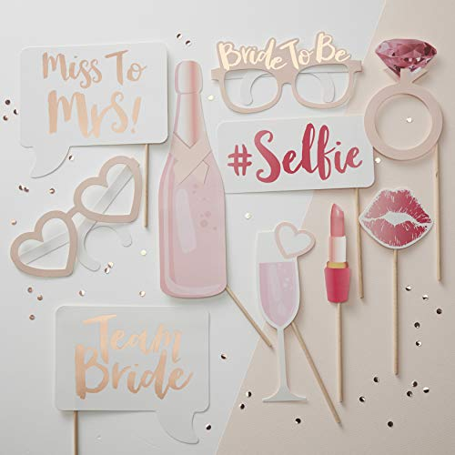 Ginger Ray Hen Party Rose Gold Team Braut Foto Booth Props Alternative Spiel ? Team Braut