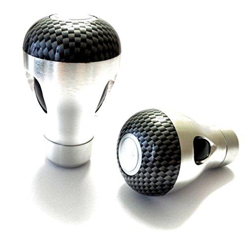 Preisvergleich Produktbild Akhan SK402 Qualität Neue Design Schaltknauf, Carbon design Schwarz und Alu gebürstet