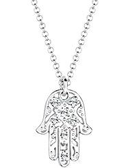 Elli Damen-Kette mit Anhänger Hamsa Hand 925 Sterling Silber Swarovski Kristall Brillantschliff 0105991613_45