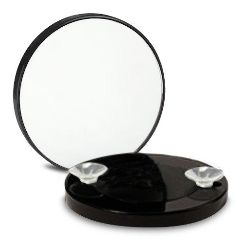 OOOH Miroir Grossissant x10 à ventouses - Noir - 8.5cm