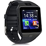 Piqancy DZ09 Smartwatch Bluetooth Sweatproof Phone with Camera TF/SIM Card Slot for Android and Gionee Smartphones for Kids Girls & Boys (Black)